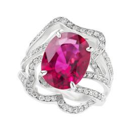 Bague diamant et rubis